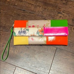 Accessories - VGUC Floral and Neon Clutch